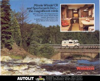 1978 Winnebago Chevrolet motorhome RV Brochure