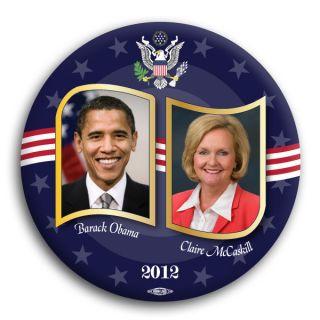 Claire McCaskill Senator Missouri Barack Obama 2012 Democrat Button