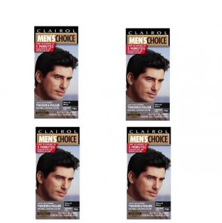 Clairol Mens Choice M44 Black Shampoo Hair Colors Pack of 4 M44 Black