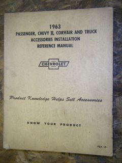 1963 CHEVY CORVAIR CORVETTE TRUCK ACCESSORIES INSTALLATION SERVICE