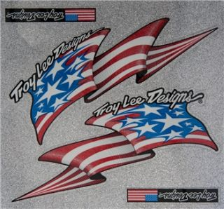Troy Lee Designs Flag Stickers