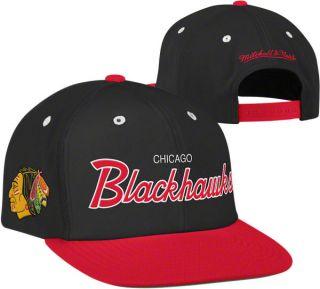 CHICAGO BLACKHAWKS NHL MITCHELL NESS ADJUSTABLE 1FIT SNAPBACK HAT CAP