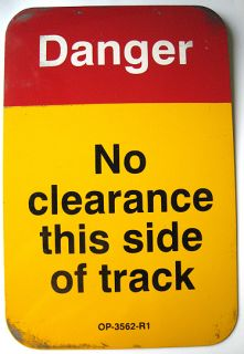Chicago Transit Authority CTA Danger No Clearance Track Train Sign Man