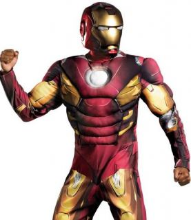 The Avengers Adult Iron Man Mark VII w Muscles Costume XL 42 46 XXL 50