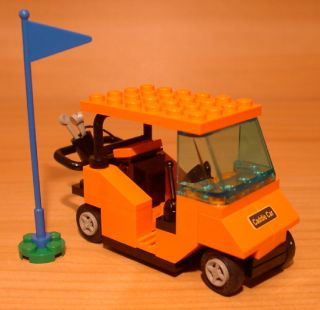 COOL CUSTOM GOLF CART town/city/club/train golfcart set LEGO orange