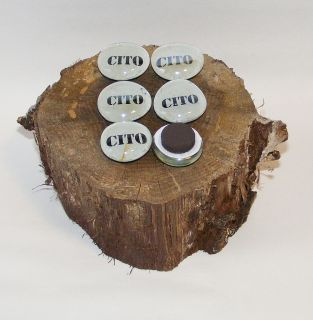 Cito Glass Magnets Geocaching Swag Geocache Cache GPS in Trash Out