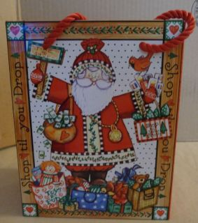 Christmas Holiday Cookie Candy Treat Tin Gift Bag Santa Claus