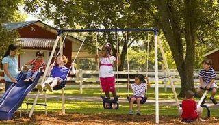 Metal Swing Set Activity Gym Children Boy Girl Kids Outdoor Play New