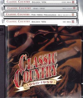 Classic Country Time Life 10 CD 150 Hits 1940s 50s Brand New Factory