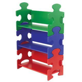 kidkraft kids puzzle bookshelf bookcase book shelf kk 14400 organize