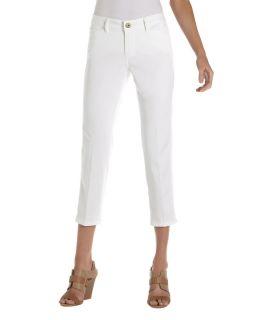 Christopher Blue Capri Pants White