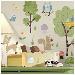 Animals 89 Big Wall Decals Kids Room Decor Deer Woodland Stickers Tree