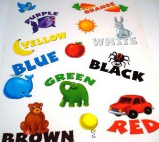 Colors Reusable Window Clings Classroom Decor Teacher Supplies