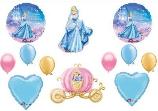 Cinderella Carriage Birthday Party Balloons Decorations Supplies