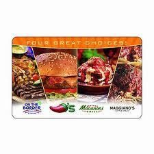 Chilis Gift Card $25 New Can Be Used at 4 Restaurants