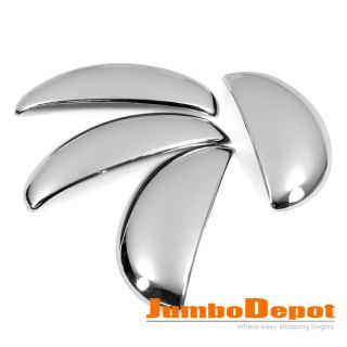 CHROME SIDE DOOR HANDLE COVERS BOWL CUP BAR TRIMS FOR PEUGEOT 206
