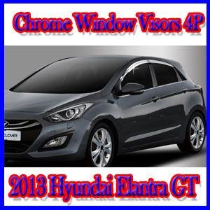 Chrome Window Visors 4pc for 2013 Hyundai Elantra GT Hatchback