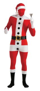 Santa Claus Suit Christmas Second Skin Zentai Supersuit Adult Bodysuit