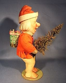 HA4 Santa Claus Figure Christmas Antique German 1930´S