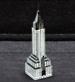 New Metal Marvel 3D Laser Cut Chrysler Building Model Unique Hobby