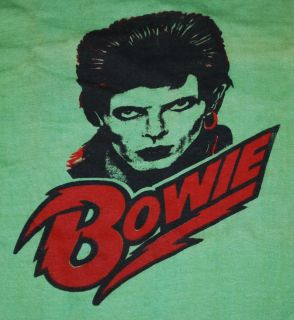 VINTAGE DAVID BOWIE T SHIRT 1970S L ORIGINAL VTG ROCK N ROLL TEE