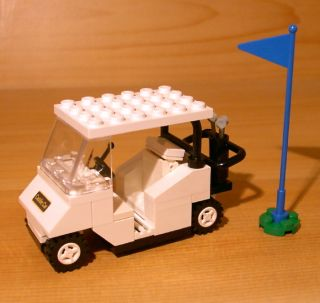 COOL CUSTOM GOLF CART for town/city/club/train LEGO white golfer gift