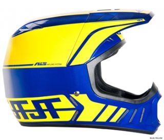 JT Racing ALS2 Full Face Helmet   Blue/Yellow 2012