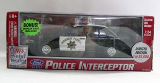 Classic Metal Works California Highway Patrol Police Interceptor 1999
