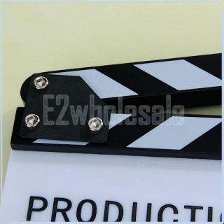 Clapperboard Clapper Board TV Film Movie Slate Cut Whit
