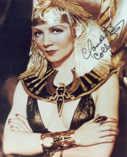 Claudette Colbert as Cleopatra Sexy Color Autographed