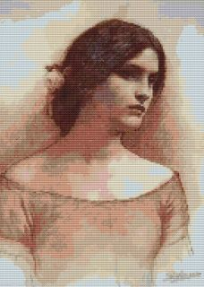 THE LADY CLARE counted cross stitch pattern 932 People Fine Art Ladies