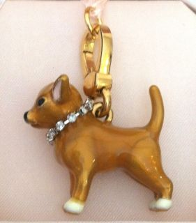 JUICY COUTURE CHARM CHIHUAHUA DOG RHINESTONE COLLAR BRACELET CHARM