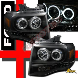 Expedition CCFL Halo Projector Headlights LED Tail Lights Black