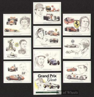 Grand Prix Legends Ayrton Senna Clark Hill Trade Cards