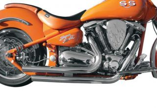 La Choppers Stackedd Exhaust System Yamaha Road Star 1600 99 03 1700