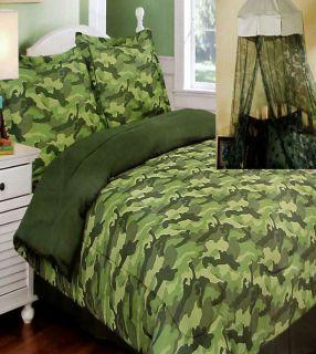 Twin Comforter Sham Bedskirt Canopy 4pc Bedding Set New