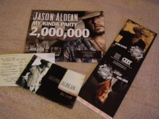 Jason Aldean *GIANT CMA Voter Card+Retail Display/Randy Owen+Two