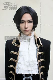 Faustus Claude Cosplay Short Black Costume Wig MF26