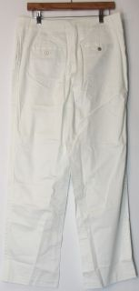 Liz Claiborne New York Sz 10 Cotton Sateen Straight Leg Pants White