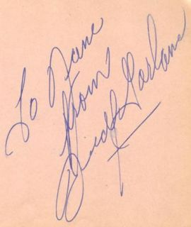 RARE Judy Garland Vintage 1930s Signed Album Page Autographed Wizard