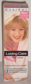 Clairol Loving Care – Medium Golden Blonde 725 – 3 oz – Fast