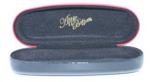 Red Black Designer Hard Clam Case Authentic Eyeglasses Optical