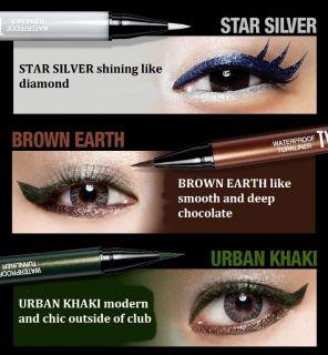 Clio New Waterproof Kill Black Eye Liner Pencil Brush Pen Liner NIB