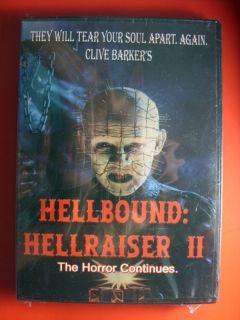 Hellraiser II The Horror Continues Clive Barker DVD New