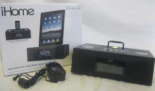 Enhanced 30pin iPod iPhone iPad Alarm Clock Speaker Dock Black