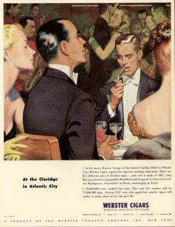 The Claridge in Atlantic City in 1947 Webster Cigar Ad