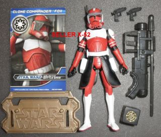 Clone Wars Red Commander Fox Figure Trooper Star Animated Series Arc