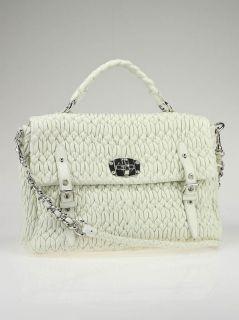 miu miu bianco nappa leather cloquet tote bag is a chic and modern