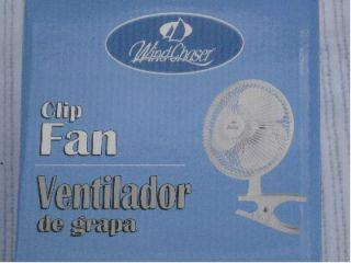 Windchaser 6  Personal Clip Fan Office Home Camp Use