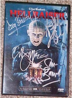 Clive Barker Hellraiser Pinhead DVD Signed 4 COA Free Shipping